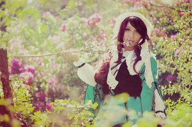 Suiseiseki in her garden by JennRobinEvans