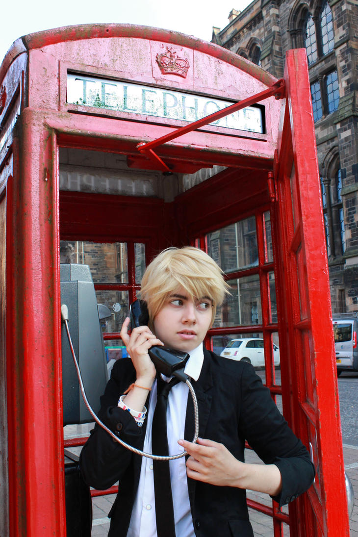 Hetalia UK England 'Call me!' by Hirako-f-w