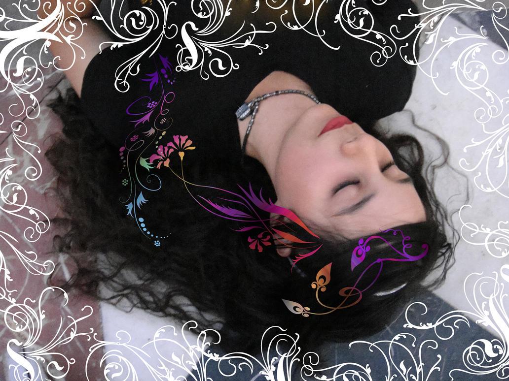 Sleeping beauty has dark hair by pequenaru