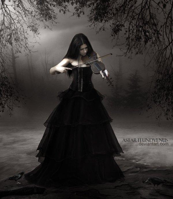 gothic violin by DenysRoqueDesign on DeviantArt