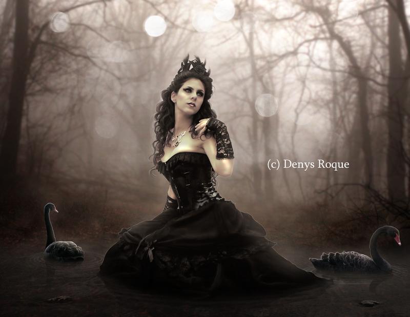 La dama y los cisnes negros by DenysRoqueDesign