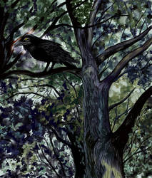 There's A Raven in the Woods by gothika248