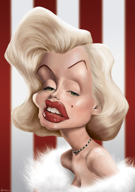 Marilyn Monroe Caricature by manohead