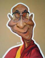 Dalai Lama by manohead