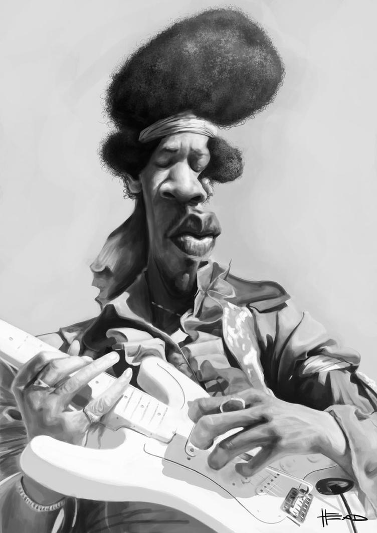 Jimi Hendrix by manohead