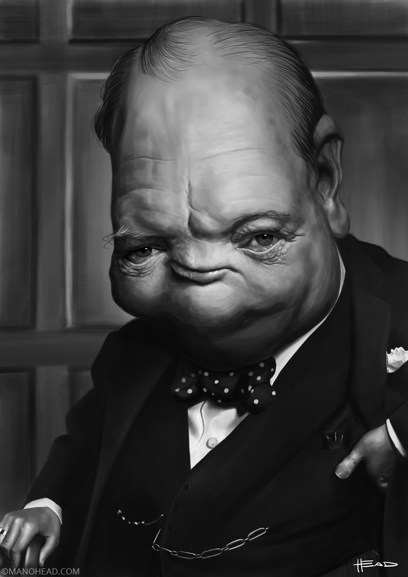 Winston Churchill by manohead