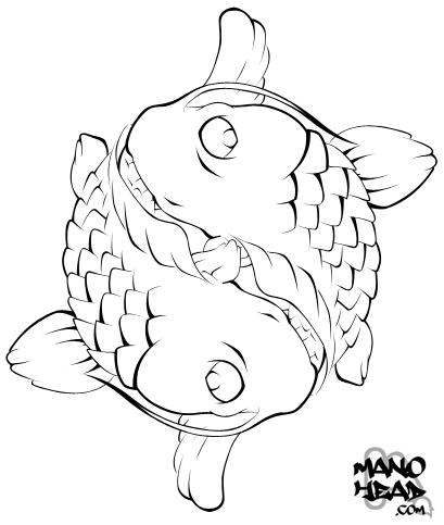 Ying Yang Koi by manohead