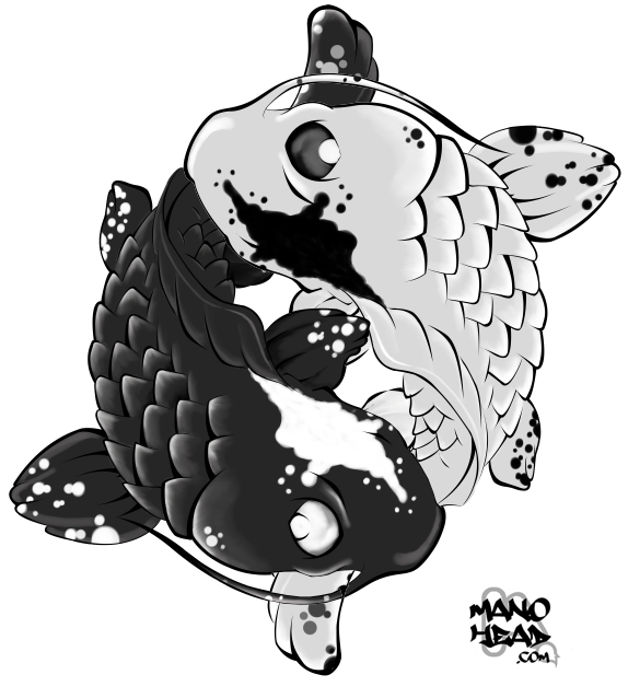 Ying Yang Koi Color by manohead