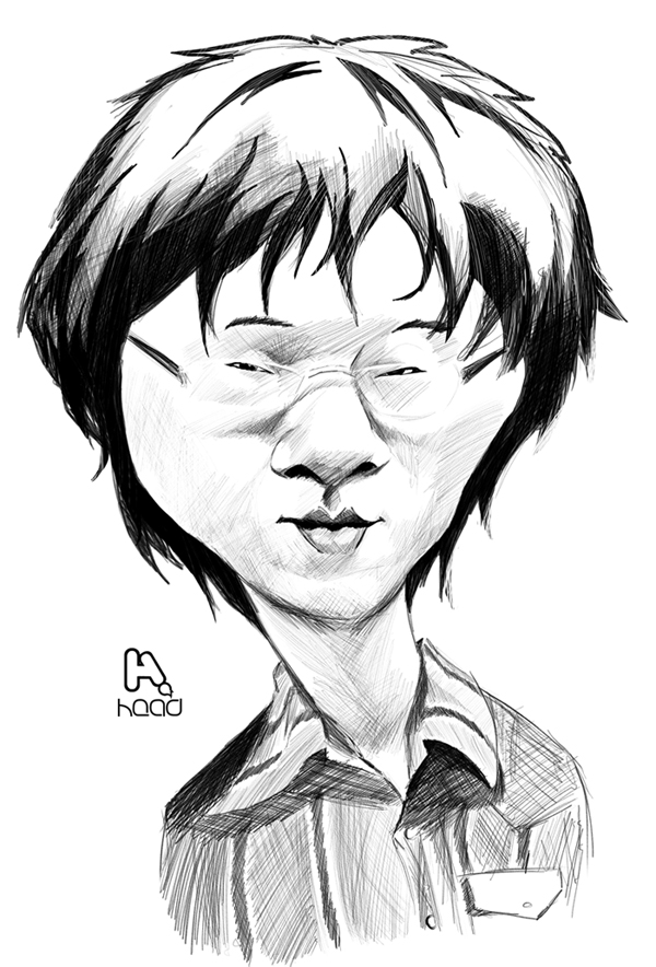 Hyung Tae Kim caricaturesketch by manohead
