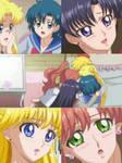 Usagi, Ami, Rei, Makoto and Minako