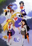 Ami, Makoto, Usagi, Minako and Rei
