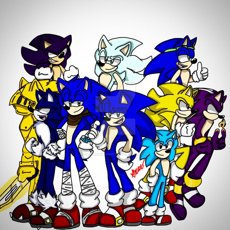 how to draw sonic all forms