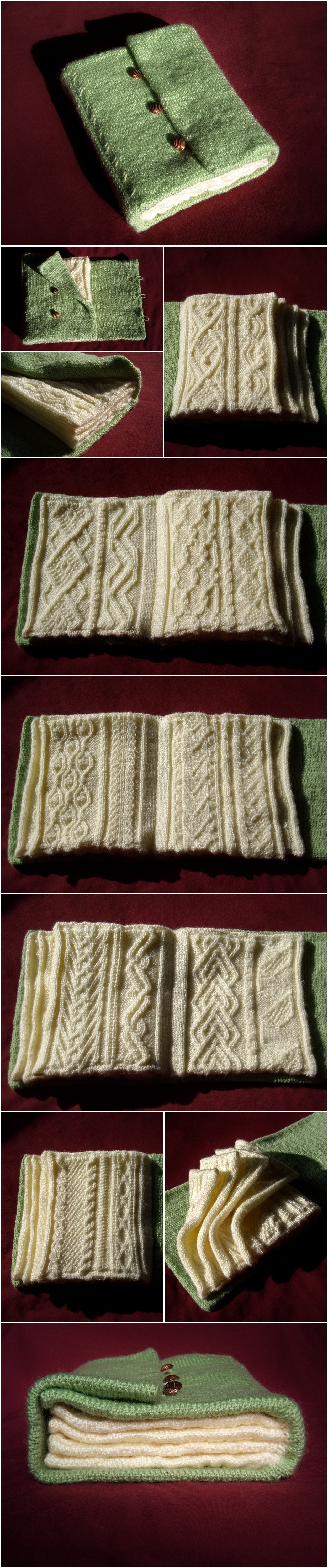 How To Make A Knitted Book Cover : The knitted book by tinywild on deviantart
