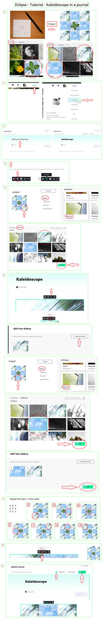 Eclipse - Tutorial - Kaleidoscope in a journal