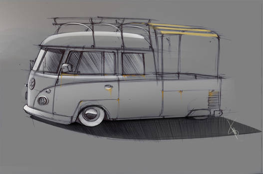 Vw Bus scetch