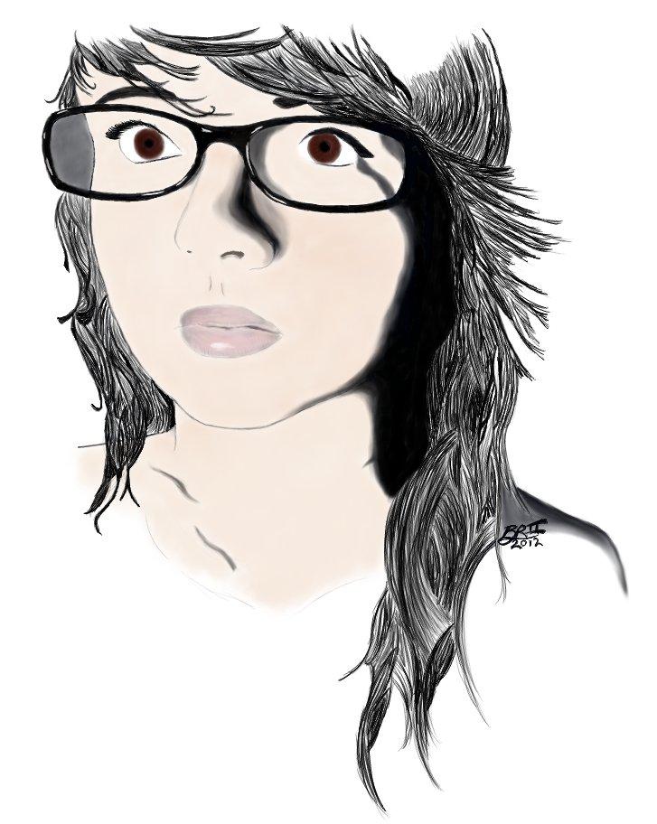 Portrait of Ashley 2 by Brii333