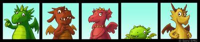 pixel dragon parade by keksfish