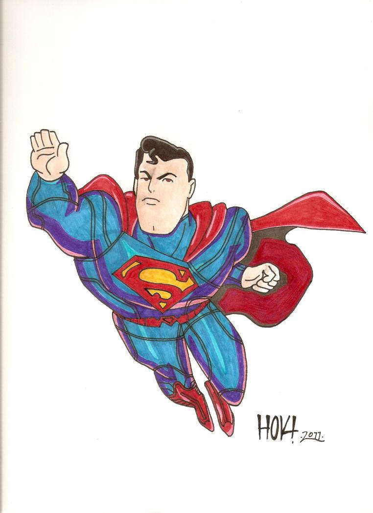 Superman-new suit by Davidbatmanfan