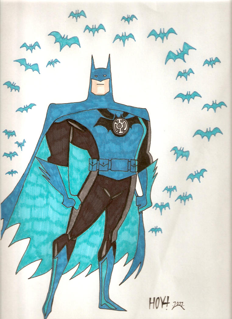 Blue Lantern Batman by Davidbatmanfan