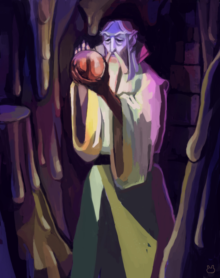 Saruman and the Palantir by malibunny on DeviantArt