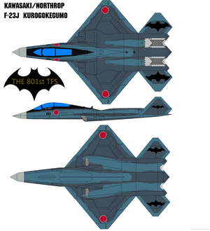 Kawasaki/Northrop F-23J Kurogokegumo