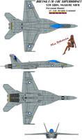 F/A-18E Nova Anglican Forces by Scooternjng