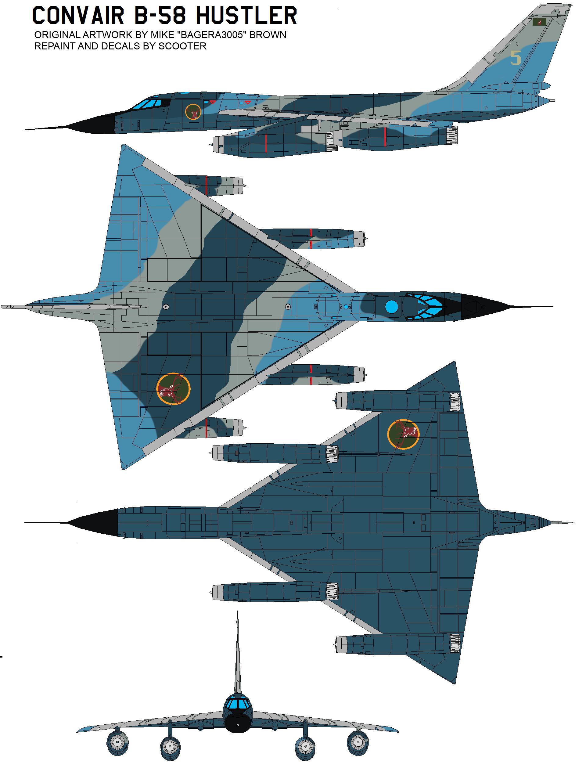Lemurian Confederacy Air Service B-58