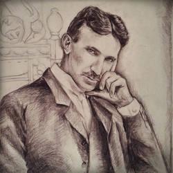 Nikola Tesla by NatasaTW