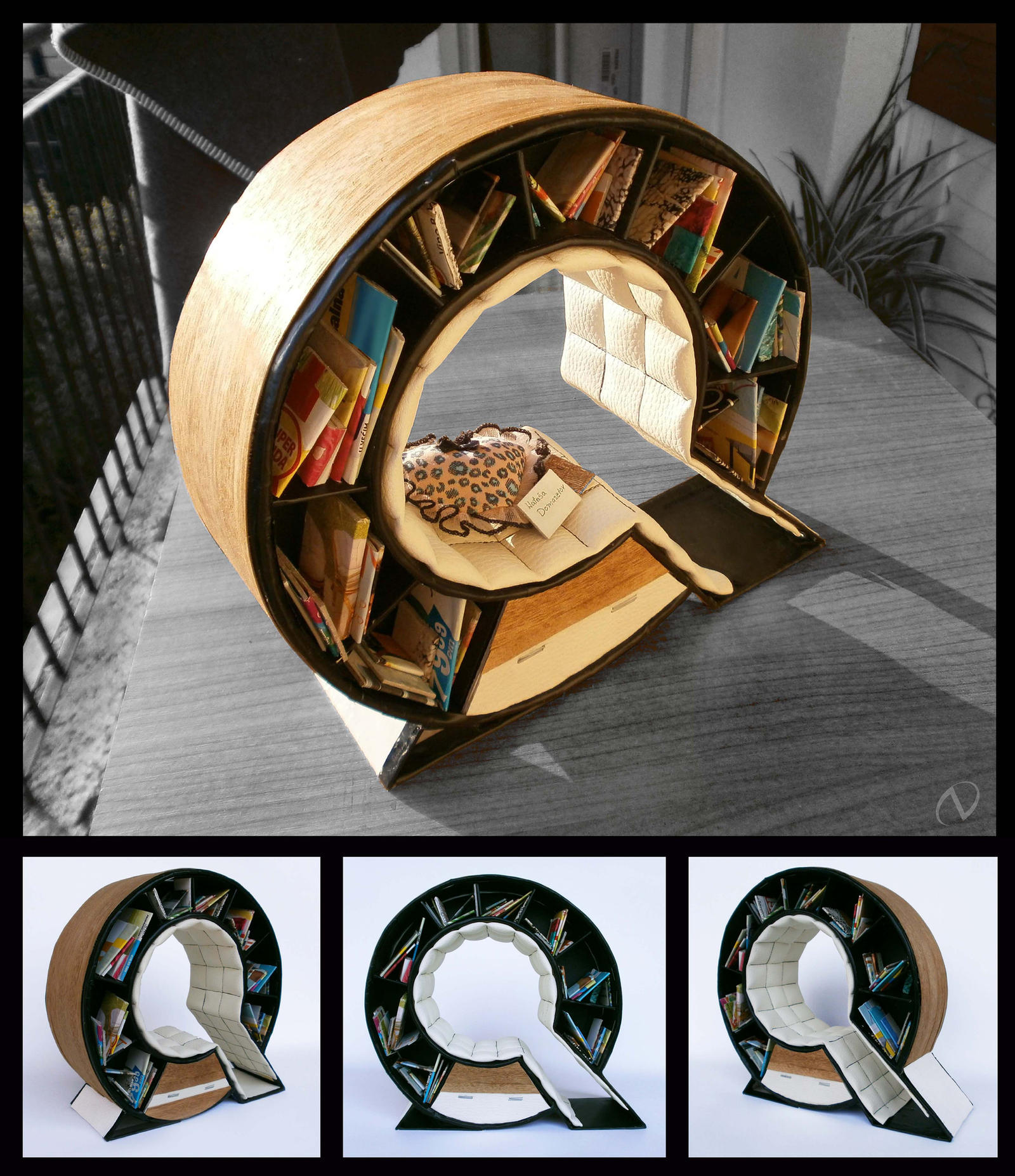 Q - Bookshelf Chair by NatasaTW Q - Bookshelf Chair by NatasaTW