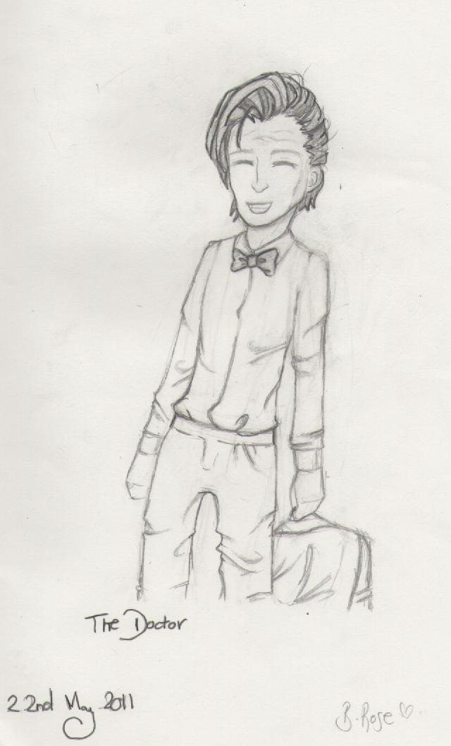 The Doctor- pencil sketch by MoreThanAConqueror