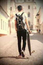 Longboard! Longboard! RayBan brejle... by KristianMJZLN