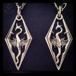 Handmade Skyrim dragon pendant #1