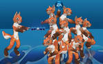 Anthro Foxes in Spore