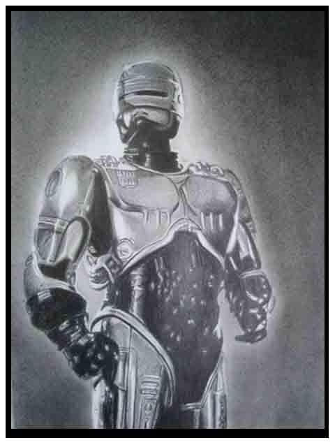 Robocop Desenho A Lapis By Douglasroberto On Deviantart