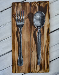 Fork Spoon painting
