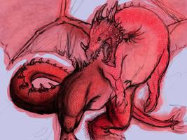 Dragon WIP by akina-nicole