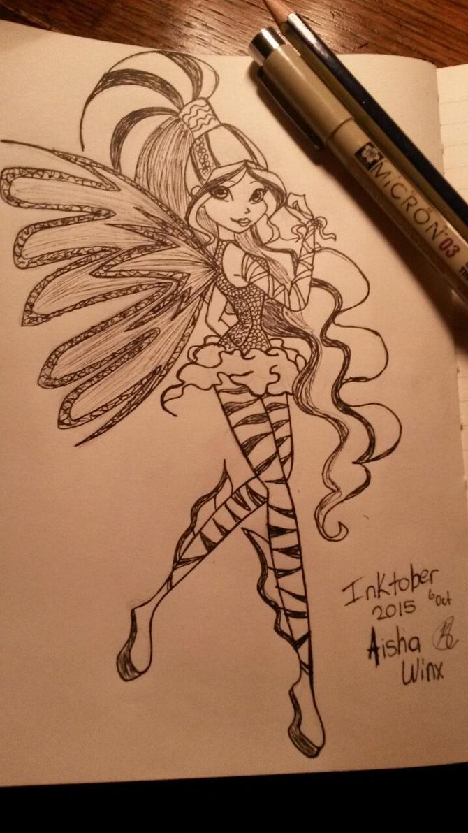 Aisha Sirenix Inktober by MissKaytheLaReveuse
