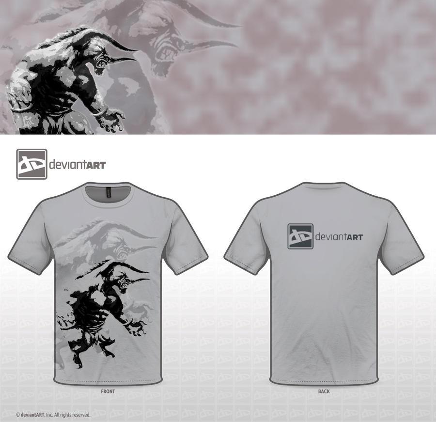 T shirt design minotaur by j0erdan on deviantart for Be creative or die shirt