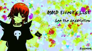 MMD Effects List (Update 07)