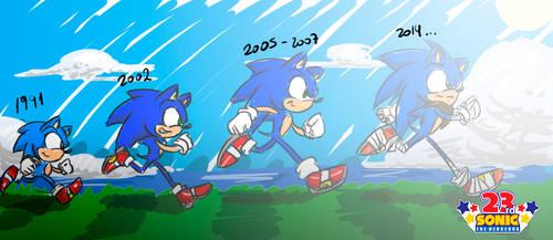 Sonic Anniversary 23 by criselerizo