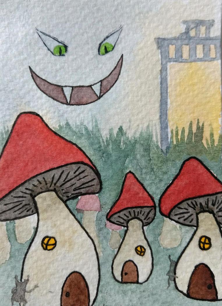 Mushroom houses by Mymylle