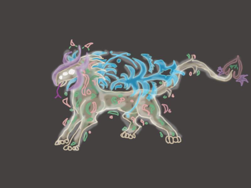 Spirit Creature Concept - Heildalgo by Cosmic-Phoenyx