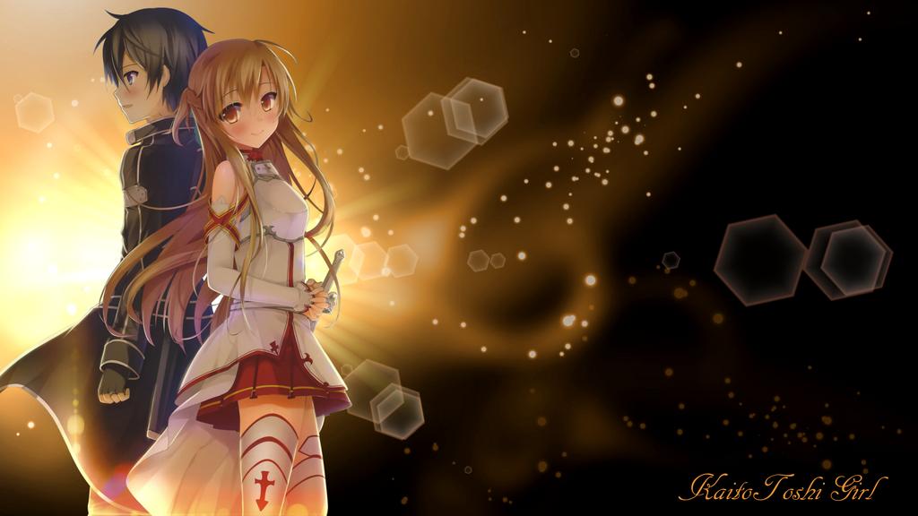 Kirito And Asuna By KaitoToshiGirl