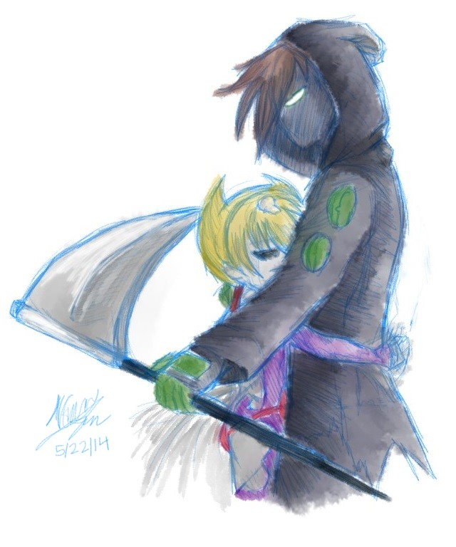 Grim Jr  and Minimandy by NorthGuam