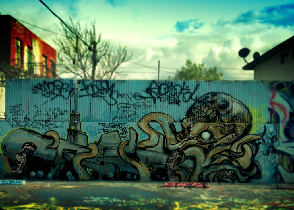LA OCTOSKULL at The Graff LAB by aMorle