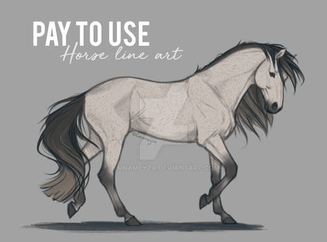 Horse Line Art OUT OF SALE