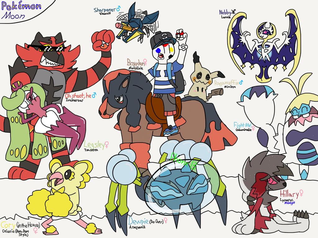 Pokemon Moon Team by Phonx13