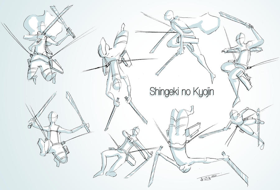 Shingeki no Kyojin Study by Jinjou