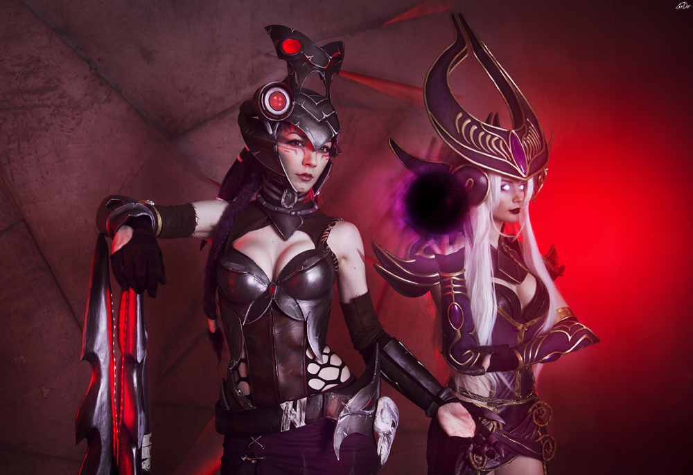 League of Legends Caitlyn and Syndra by RianaG