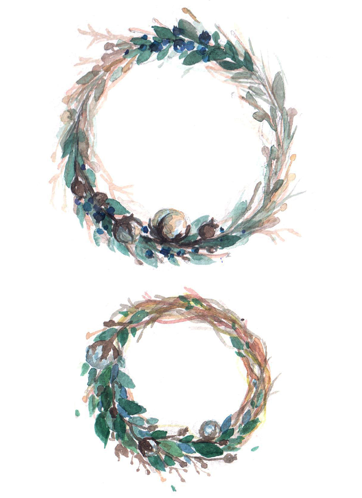 wreath watercolor by RianaG